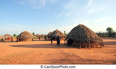 African tribal hut in Ethiopia