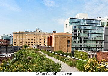 High line park in Manhattan, New York