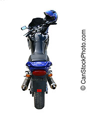 Motorcycle on a white background. - The big beautiful dark...