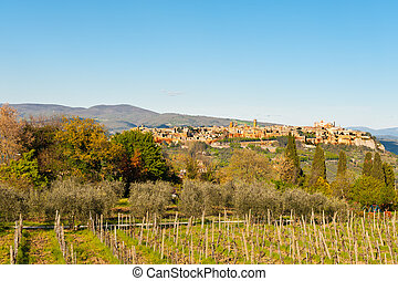 Orvieto - Medieval Town Orvieto over the Tuscany Valley,...