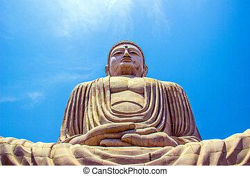 Giant Buddha in Bodhgaya, Bihar, India. - Giant Buddha in...