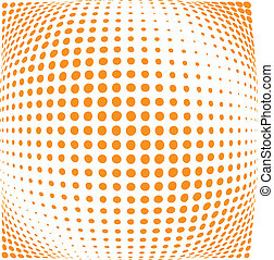 Halftone dots - Abstract background of halftone dots