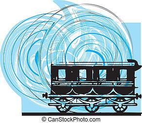 abstrakt, Tåg, vektor, Illustration