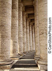 Colonnade in Piazza San Pietro (St Peter's Square) in...