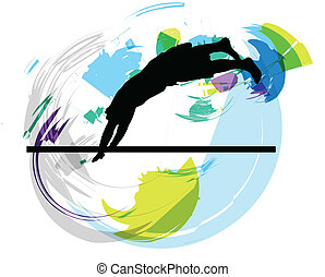 Jump. Vector illustration