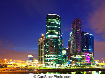 Moscow-city business center, Russia. - view of Moscow....