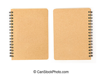 blank cover of notebook front and back