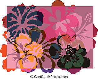 Abstract flowers illustrations