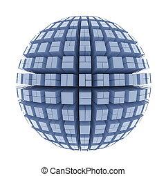 Globe of cubes