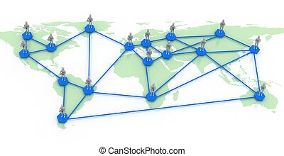 network map of the world