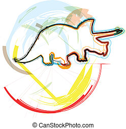 Dinosaur. Vector Illustration