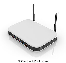 modem router - one modem router with two antennas for...