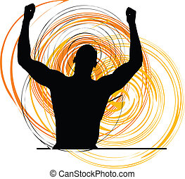 Athlete, Vector illustration