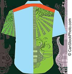 Men shirt. Vector illustration