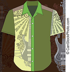 Men shirt. Vector illustration