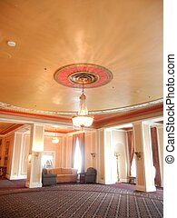Elegant Room with row of windows - Elegant room with row of...