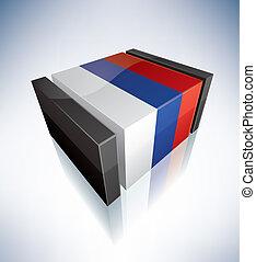 3D flag of Srpska