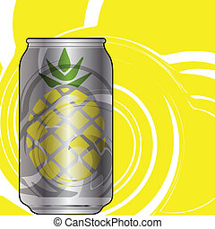 Aluminum packaging for beverages with cool design. Editable...