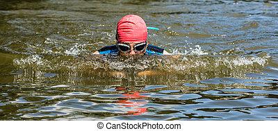 nadador, Estilo pecho