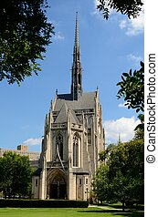 Heinz Chapel on the campus of the University of Pittsburgh...
