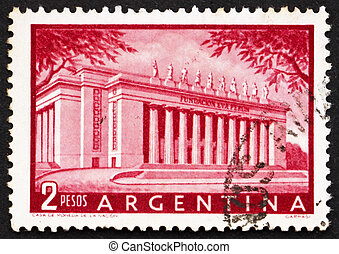 Postage stamp Argentina 1954 Eva Peron Foundation Building -...