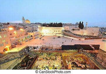 Jerusalem - Excavation near the Western Wall in Jerusalem,...