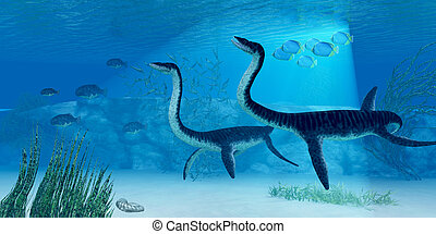 Plesiosaurus Dinosaur - Jurassic seas were full of life such...