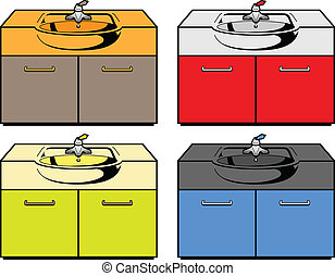 Wash basin. Vector illustration