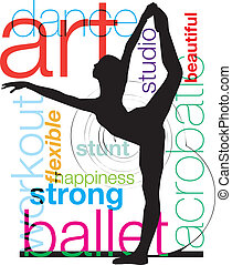 Ballet, Vector illustration