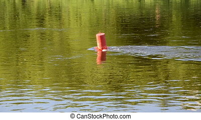 small river waterway beacon - small river waterway red...