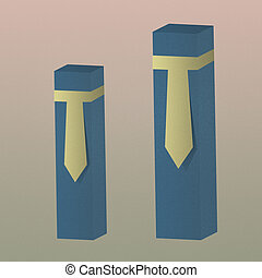 Necktie business of graph on paper background