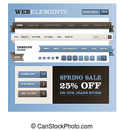 Set of web elements - Set of vector elements with jeans...