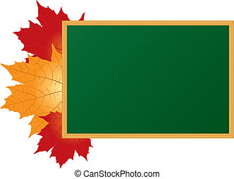 school board - School board and maple leaves