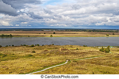 View of Oka River - Oka River by the village of...
