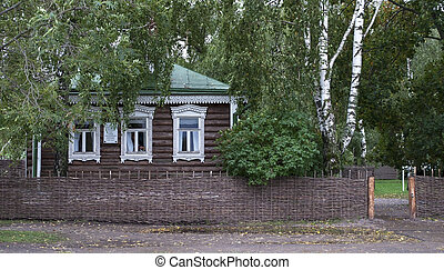 Small wooden house in russian village - The house-museum of...