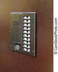 door with intercom -  building steel door with intercom