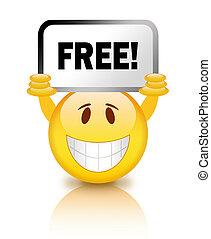 Free smiley icon isolated on white