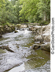 Llugwy river at Betws-Y-Coed, North Wales