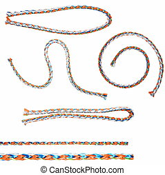 set colorful  string  isolated