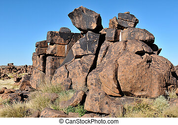 Giant's playground, Namibia - Rock formation at Giant's...
