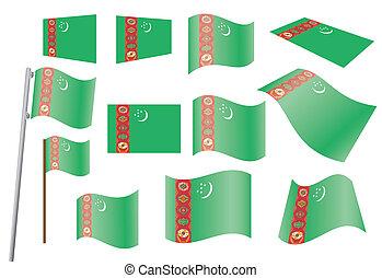 flags of Turkmenistan