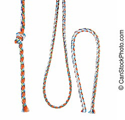 set colorful  string  isolated on