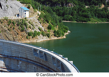 dam - Big dam in western Romania