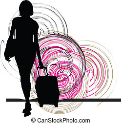 Businesswoman. Vector illustration