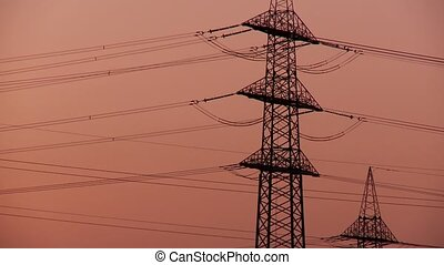 Electricity and Sunset