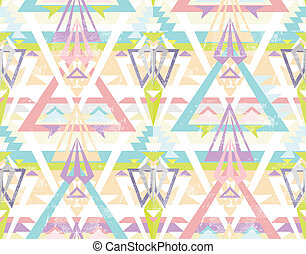 geometric seamless aztec pattern - Abstract geometric...