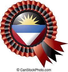 Antiqua and Barbuda rosette flag