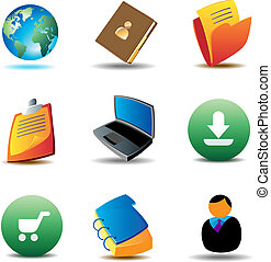 E-business icons for website Vector illustration