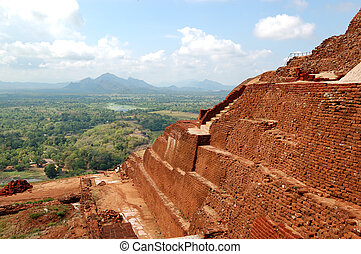 The view from Sigiriya (Lion's rock) is an ancient rock fortress and palace ruins, Sri Lanka