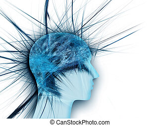 stress concept - head with a spiked as the concept of stress